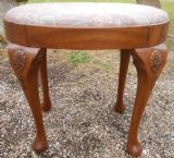 Oval Walnut Dressing Stool